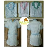 harga Baju Seragam Suster Terusan Putih Kerah Kotak Tokopedia.com