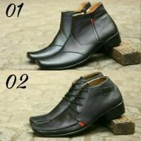 Jual Sepatu Kickers Pantofel Zipper | Sepatu Slip On Slop | Boots Casual Murah
