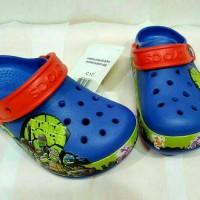 Jual Sandal Anak Lampu Led Crocs Ninja Turtle Murah