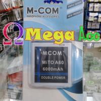 Jual Baterai Mito A60 Double Power 6000 mAh Original M Com ( BA00076 ) Murah