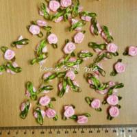 Bunga Kucai Pink - Bunga Mawar Kecil Berdaun - Kerajinan Tangan