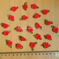 Bunga Kucai Merah - Bunga Mawar Kecil Berdaun - Prakarya