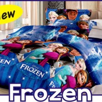GROSIR BED COVER SET FATA ANAK FROZEN UK.180&160