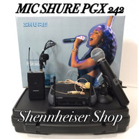 harga Microphone Wireless Shure Pgx 242 Hand+clip On / Wireless Microphone Tokopedia.com