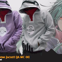 Jaket Anime Mekaku City Actors Kido Tsubomi Cosplay Grey Jacket Hoodie