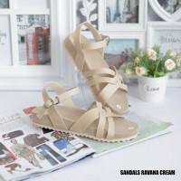 Promo Lebaran Sandal Ravana Wanita Trendy Warna Cream