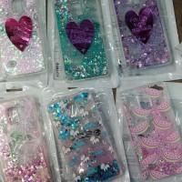 Case Sand Glitter Heart Samsung J1 Ace,J2,J3, J5, J7,Prime,Note 4,J120