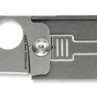 Pisau Spyderco Squarehead Folder Knife Titanium Handle Plain Edge Blad