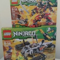 Lot of 2x New LEGO Ninjago Ultra Sonic Raider 9449 & Samurai Mech 9448