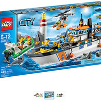 Lot of 2 New LEGO CITY Coast Guard Patrol 60014 & 60015 Coast Guard Pl
