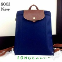Longchamp Le Pliage Wearing Backpack - Navy - 8001