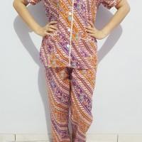 Setelan Baju Tidur Wanita Kimono Batik Lengan Pendek 132112-001BR