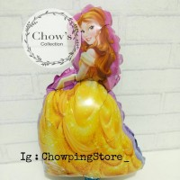 Balon Foil Princess Belle / Putri Bella Beauty and The Beast (40cm)