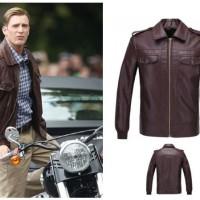Jaket Kulit Semi Leather Jacket Garut Pria Cowok Custom Formal Hitam