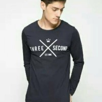 Tshirt 3 Second, Baju Kaos Distro Pria Three Second