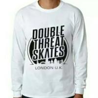 Tshirt, Baju Kaos Lengan Panjang Double Threat Skates
