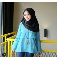 Rufly Mint / Atasan wanita muslim / Hijab / Blouse / Tunic / Tunik