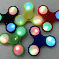 Jual Fidget Spinner LED 8 Variasi Nyala Lampu Triple Head Murah