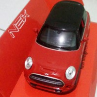 Welly Nex Mini Cooper Hatch Merah - Miniatur Mobil Skala 1:32