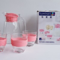 Luminarc L5534 Coastline 5 Pcs Drink Set - Pink