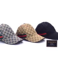 Topi +BOX Gucci Canvas GG-Original Web Biru Dongker Coklat Hitam ORI