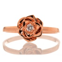 Rose Diamond Ring - Cincin Kawin- Cincin Emas Berlian