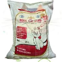 Jual Pasir Kucing Gumpal Royal Cat Sand Bentonite 25 Liter Murah
