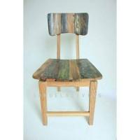 kursi makan vintage, kursi cafe kayu bekas kapal, kursi makan antik