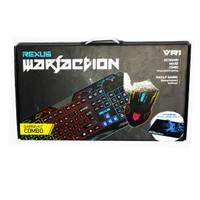 Jual Keyboard kiboard Mouse Gaming Rexus Warfaction Vr1 Backlight termurah Murah