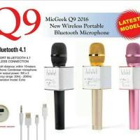 Jual Mic wireless bluetooth karaoke player Q9 Murah