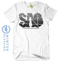 Baju Kaos SAO Sword Art Online Game Anime Logo Putih