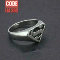 cincin superman titanium - superman ring stainless steel titanium