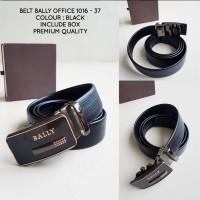 BELT BALLY OFFICE 1016 - 37 BLACK import tali pinggang keren murah