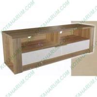 meja rak tv coklat putih besar orbitrend miami 140 cm cicilan bandung