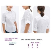PATCHWORK SHIRT - WHITE. Made in China - FASHIONme FO BRANDED