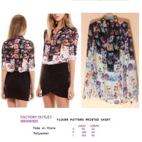 BOX FLOWER PATTERN PRINTED SHIRT. Made in China - FASHIONme FO BRANDED
