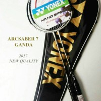 raket ganda arcsaber 7 silver new quality 2017 1 set 2 raket yonex