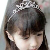 Bando Tiara Anak Hiasan Rambut Fashion Korea Import Desain Mahkota