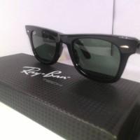 Kacamata Rayban Wayerer RB2140A Black Glossy