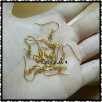 12 Piece Earring Hook Anting Gantung Besi Emas Stainless Anti Karat