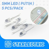 LED 5mm Putih (5pcs/pack)