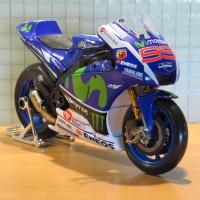 Jual Diecast Miniatur MotoGP 2016 Yamaha Jorge Lorenzo skala 1/18 Maisto Murah