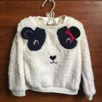 Baju Kaos Dress Sweater Branded Bayi Anak Perempuan - Panda Sweatshirt