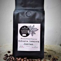 Jual BIJI KOPI COFFEE BEAN KOPI BUBUK ROBUSTA LAMPUNG JANTAN PEABERRY 250GR Murah