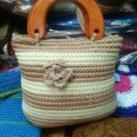 Jual Tas Rajut jinjing Bunga - Hand Bag Wanita - Souvenir Jogja Harga Murah Murah