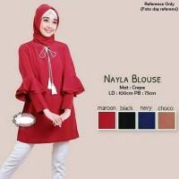 Jual Fashion busana baju wanita atasan Nayla Blouse Murah