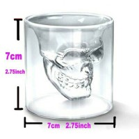 Glass Cup Crystal Skull For Whiskey Wine Bar