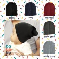 Jual Topi kupluk bayi balita anak rajut polos / baby kids beanie hat bababa Murah