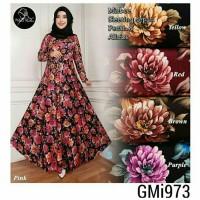 Gamis Dress maxi Bunga GMi973 Misbee Khimar wolfis Murah syari