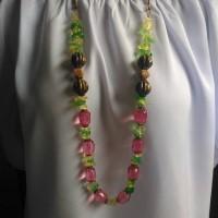 Jual kalung handmade kristal kerikil labu etnik Murah